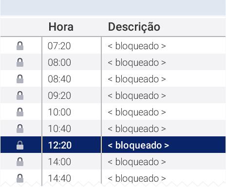 horários bloqueados agenda HiDoctor