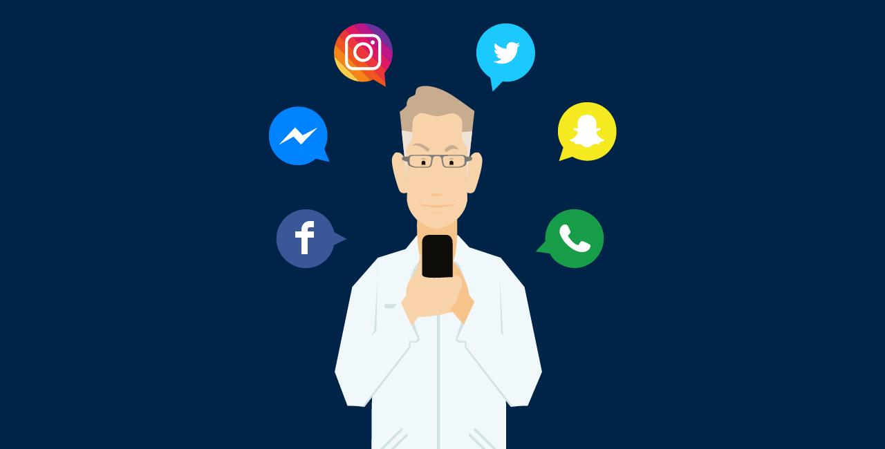 Redes sociais e aplicativos de mensagem