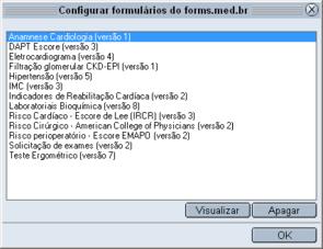 Gerenciamento de formulários