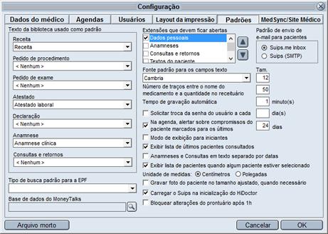 Biblioteca HiDoctor® - textos padrão