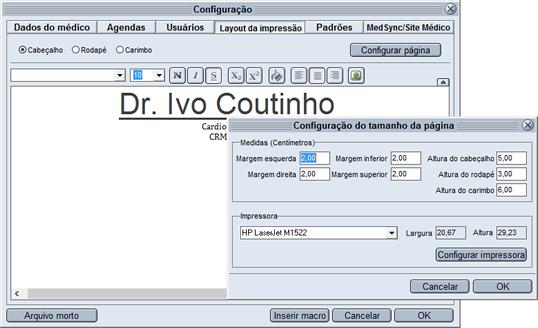 Layout de impressão HiDoctor®