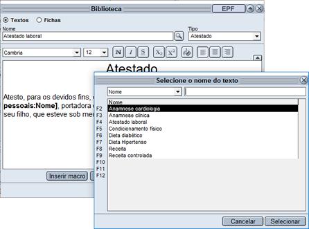 HiDoctor® - Cadastro de textos na biblioteca