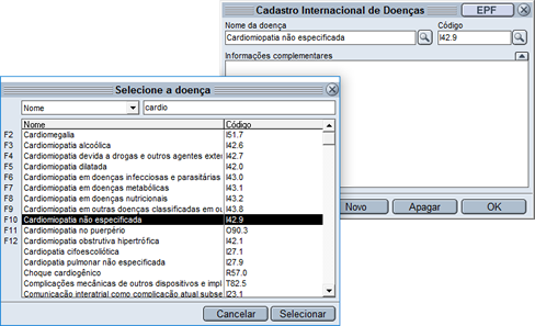 HiDoctor® - Cadastro CID-10