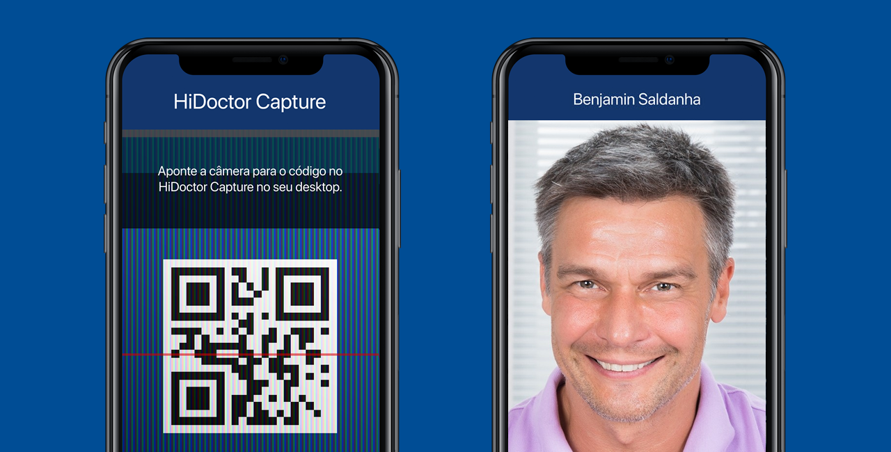 HiDoctor® Capture - conexão via QR Code e foto de perfil do paciente