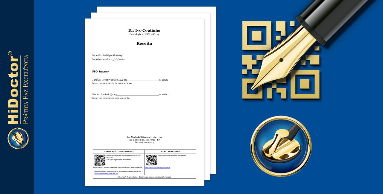 Como emitir prescrições e atestados digitalmente pelo HiDoctor® com assinatura digital