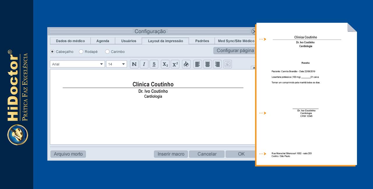 Como configurar o layout de impressão para textos do HiDoctor®